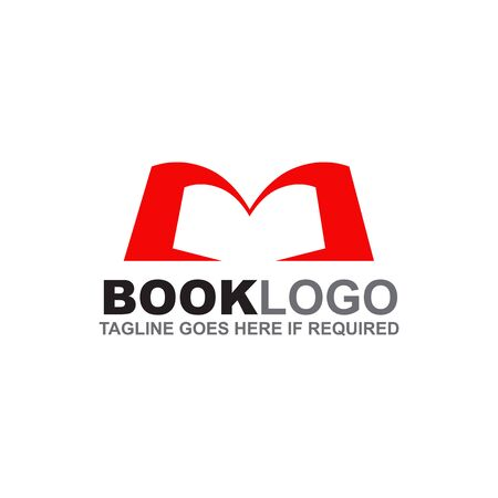 Book logo design inspiration vector template