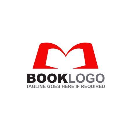 Book logo design inspiration vector template
