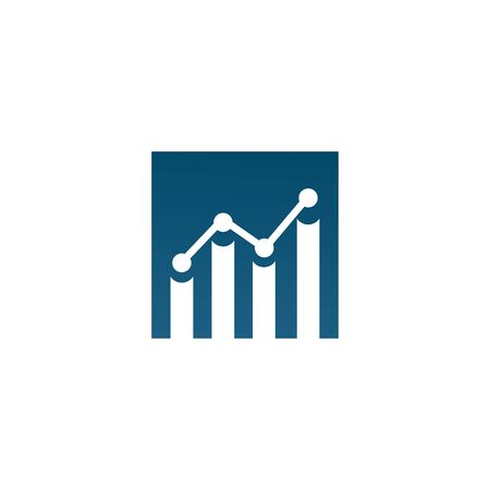 Chart graphic icon design inspiration vector template