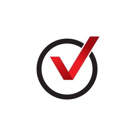 Check mark  design inspiration vector template