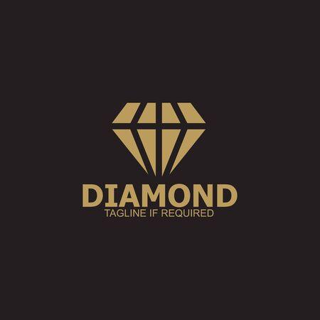Diamond  icon design vector template 免版税图像 - 126872958