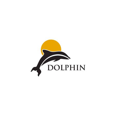 Dolphin  design inspiration vector template  イラスト・ベクター素材