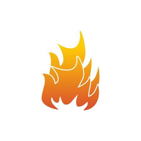 Fire logo icon design inspiration vector template