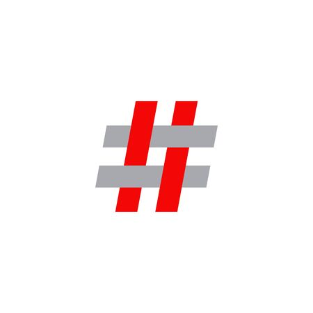 Hashtag logo icon design inspiration vector template Illustration