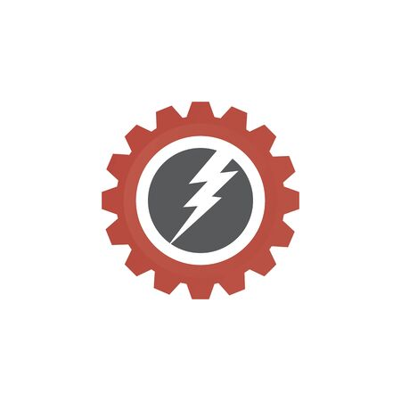 Industrial design with gear icon template Illustration