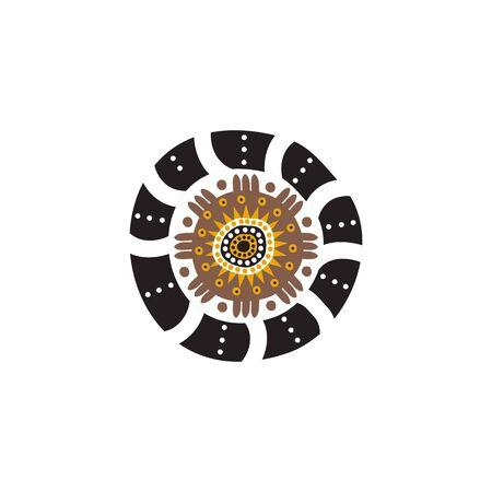 Aboriginal art icon logo design inspiration vector template Иллюстрация