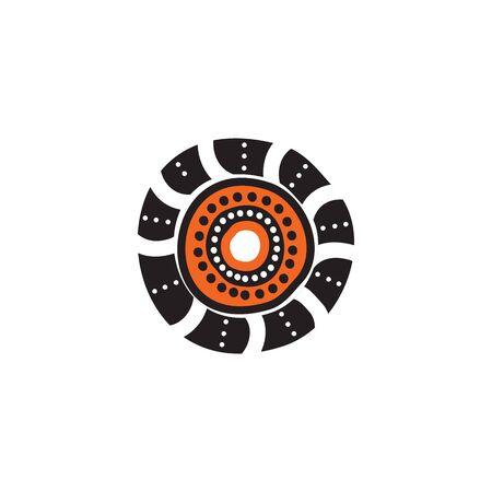 Aboriginal art icon logo design inspiration vector template