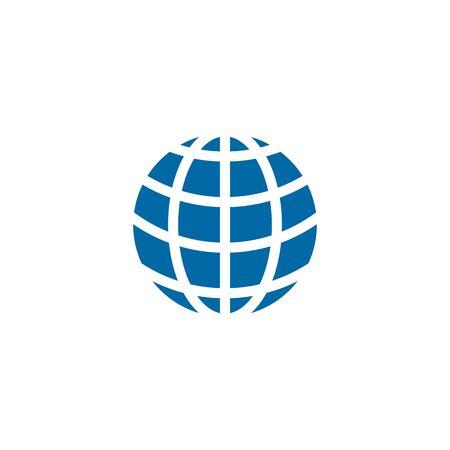 Globe icon logo design inspiration vector template Illustration