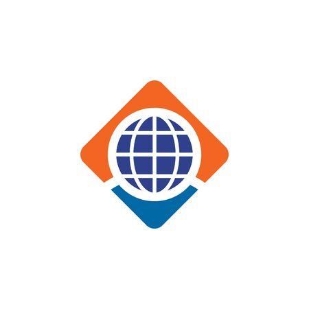 Globe icon logo design inspiration vector template Vectores