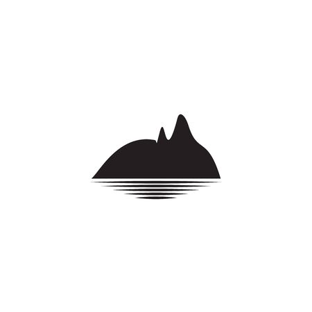 Mountain icon logo design vector template