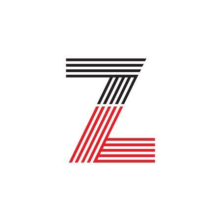 Z letter initial logo design vector template
