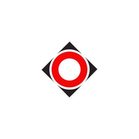O letter initital logo design vector template Ilustração