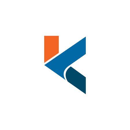K letter logo design inspiration vector template