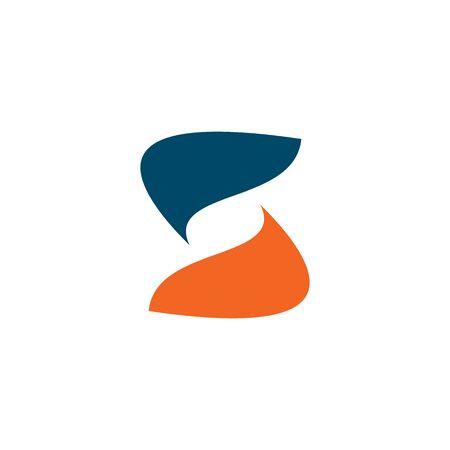 S brief eerste logo ontwerp vector sjabloon