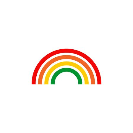Rainbow logo icon design inspiration vector template
