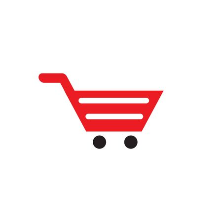 Plantilla de vector de inspiración de diseño de logotipo de carrito de compras Logos
