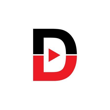 D letter initial design inspiration vector template