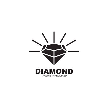 Diamond  design inspiration vector template 免版税图像 - 128630486