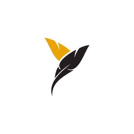 Feather pen icon  design inspiration vector template