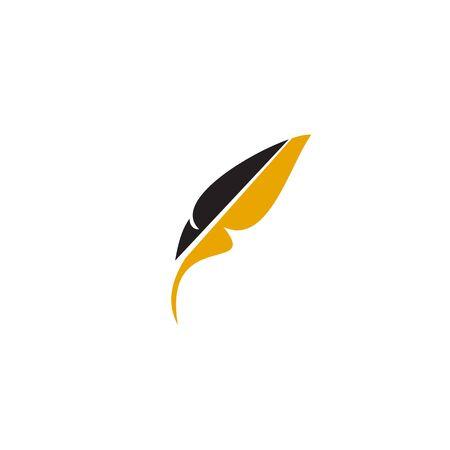 Feather pen icon   design inspiration vector template Ilustrace