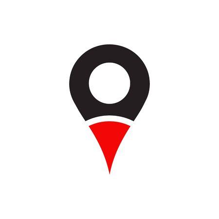 Location pointer icon design vector template illustration