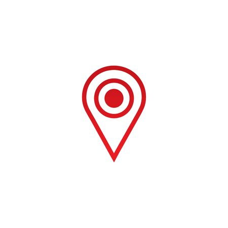 Location pointer icon  design vector template illustration Illustration
