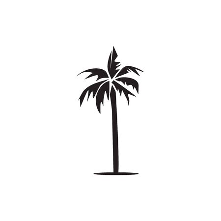 Palm tree icon logo design inspiration