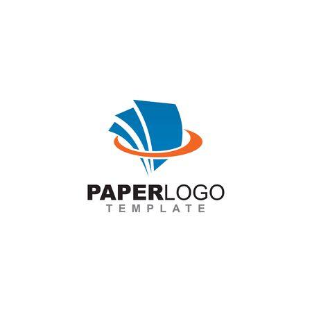 Paper icon logo design inspiration vector template