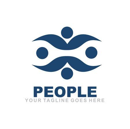 Human character icon logo design inspiration vector template Ilustração