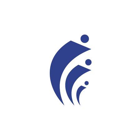 Human character icon logo design inspiration vector template  イラスト・ベクター素材