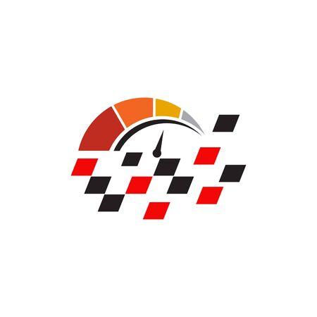 Race flag icon logo design inspiration vector template  イラスト・ベクター素材