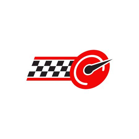 Race flag icon logo design inspiration vector template Ilustração