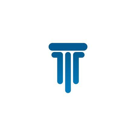 Pillar icon logo design inspiration vector template