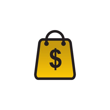 Shopping bag icon logo design vector template