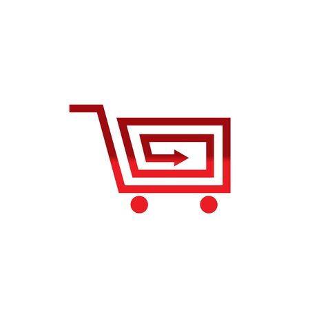 Shopping cart logo design inspiration vector template