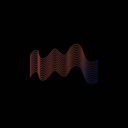 Sound wave logo design inspiration vector template Stock Illustratie