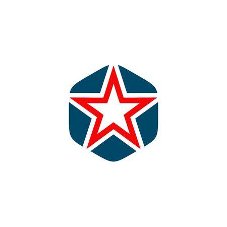 Star logo design inspiration vector template