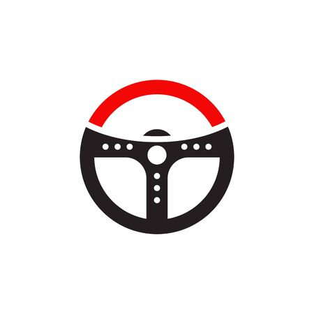 Car steering logo design inspiration vector template Illustration