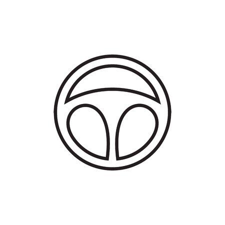 Car steering logo design inspiration vector template Vectores