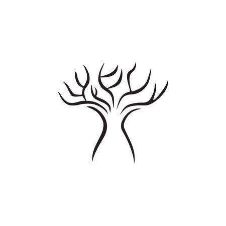 Tree icon logo design inspiration vector template