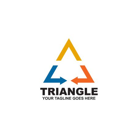 Triangle logo design inspiration vector template