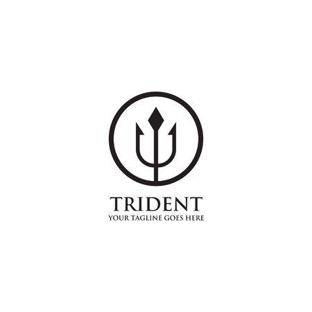 Trident logo design inspiration vector template