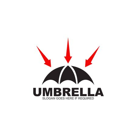 Umbrella logo design inspiration vector template