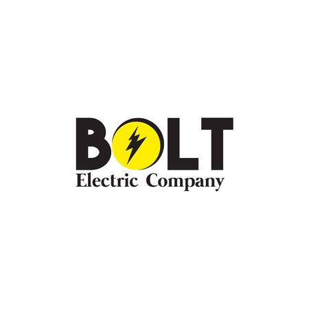 Bolt logo design vector illustration with isolated background template Stock Vector - 129154965