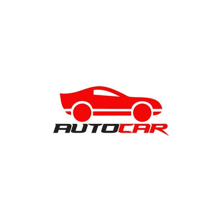 Auto car logo design inspiration vector illustration with isolated background template Foto de archivo - 129154993