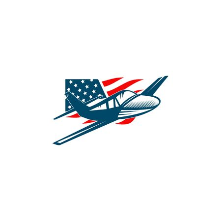 Aviation company logo design inspiration vector illustration with isolated background template