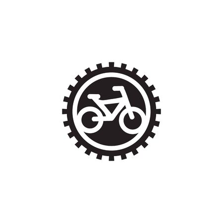 Bike logo design inspiration vector illustration with isolated background template Illustration