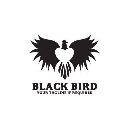 Bird icon logo design inspiration vector illustration with isolated background template Standard-Bild - 129162728