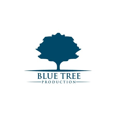 Tree logo design inspiration vector illustration with isolated background template Illustration