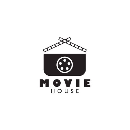 Movie maker company logo design inspiration vector template with isolated background Standard-Bild - 129604232